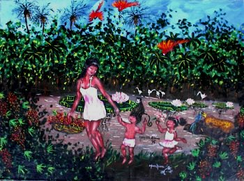 Saterê Guaraná-picker with her Kids